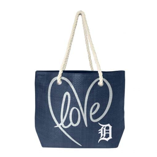 Detroit Tigers Love Rope Tote Bag