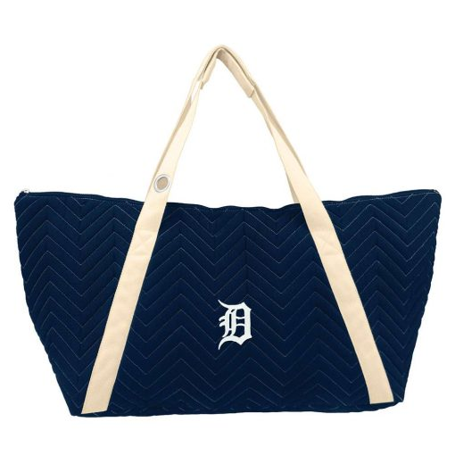 Detroit Tigers Navy Stitched Weekender Bag