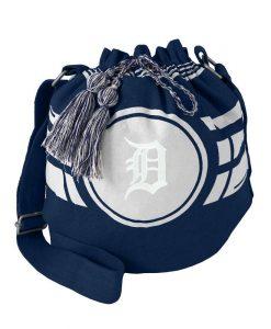 Detroit Tigers Ripple Navy Drawstring Bucket Bag