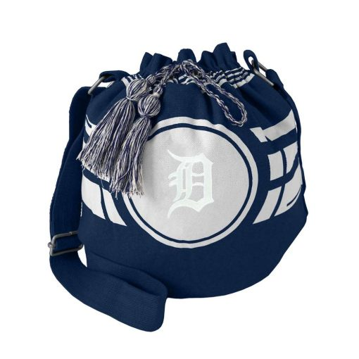 Detroit Tigers Ripple Navy Drawstring Bucket Bag