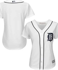 Detroit Tigers Women's Majestic White Home Cool Base Jersey