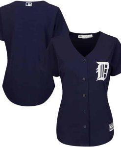 Detroit Tigers Women's Majestic Navy Alternate Cool Base Jersey