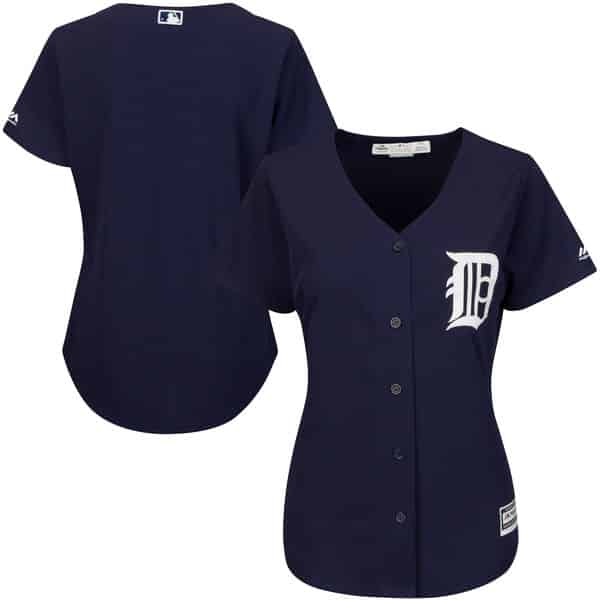 Detroit Tigers Women's Majestic Navy Alternate Cool Base Jersey
