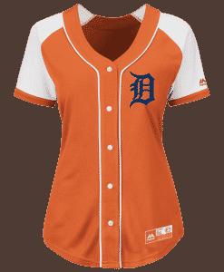 Detroit Tigers Women's Majestic Orange Alternate Jersey