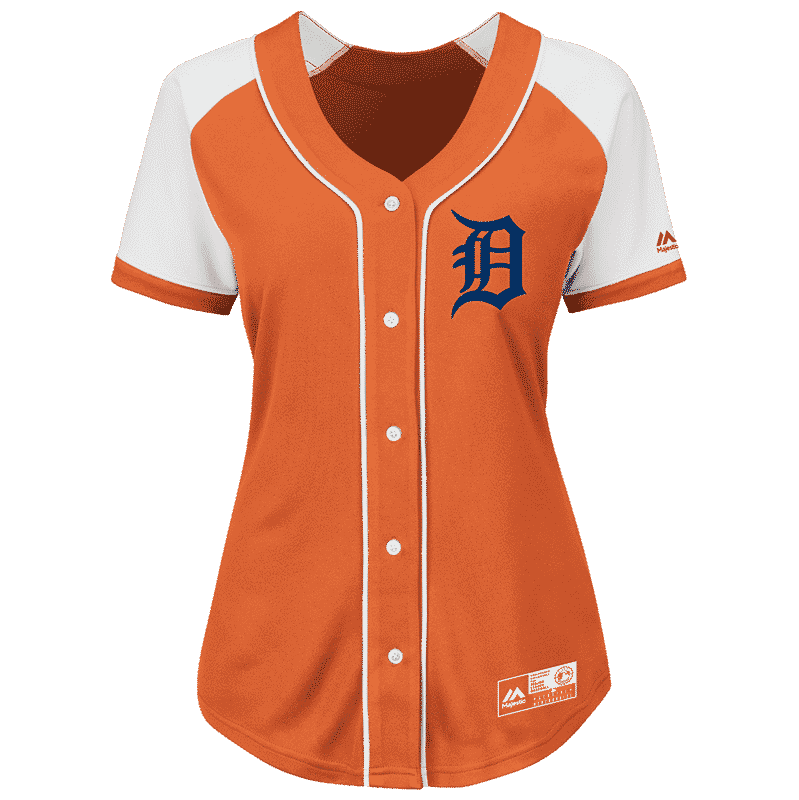Detroit Tigers Women's Majestic Orange Alternate Jersey