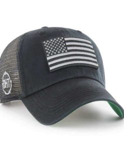 Operation Hat Trick Clean Up Trawler Black 47 Brand USA Flag Hat