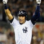 Derek Jeter is honored with the Retirement of his number 2