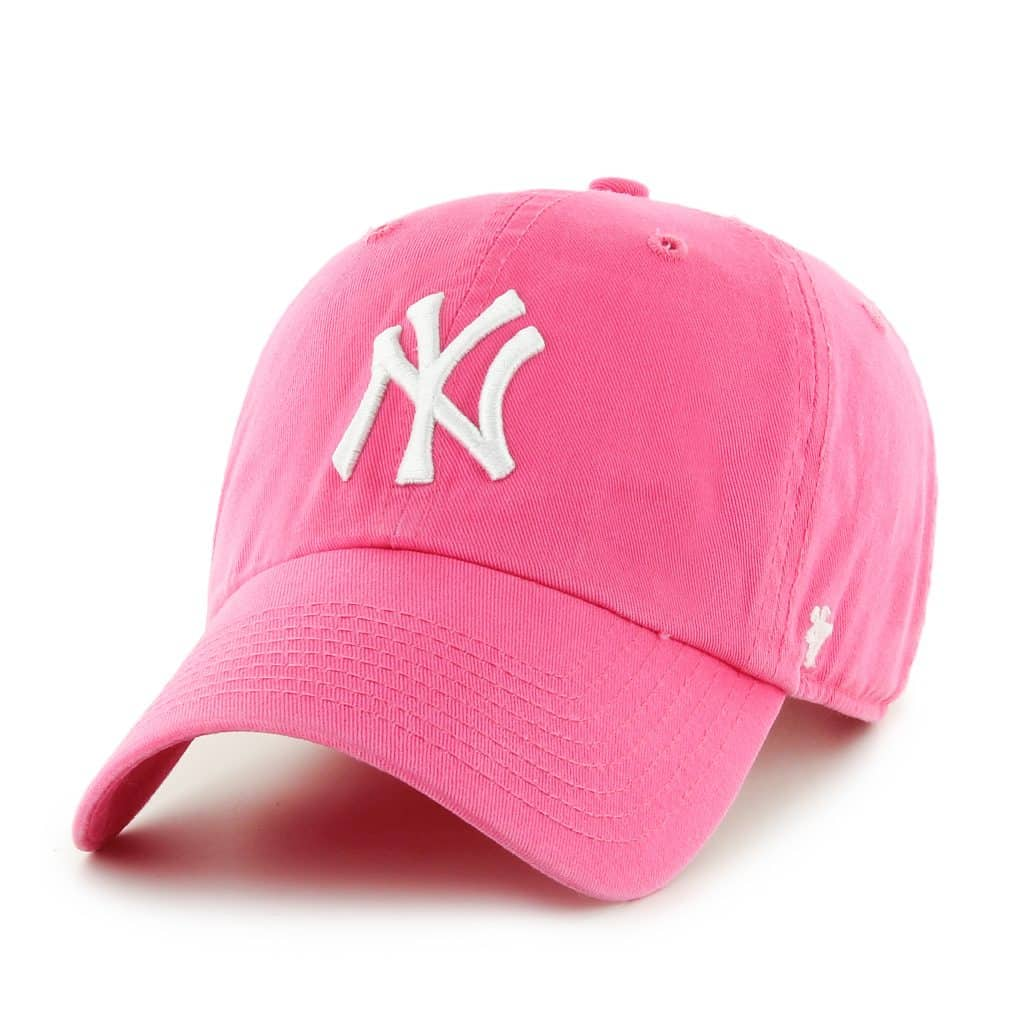 New York Yankees Women's 47 Brand Pink Clean Up Adjustable Hat