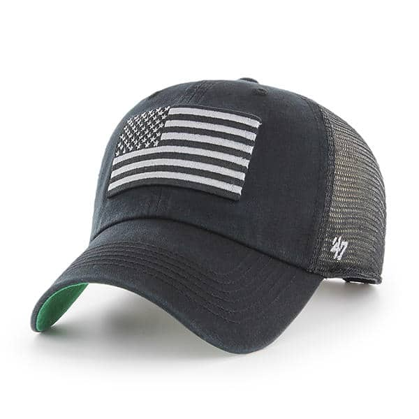 Operation Hat Trick Clean Up Trawler Black 47 Brand Adjustable USA Flag Hat de95c065c813