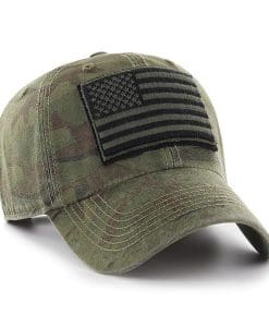 Operation Hat Trick Movement Camo Sandalwood 47 Brand Adjustable USA Flag Hat
