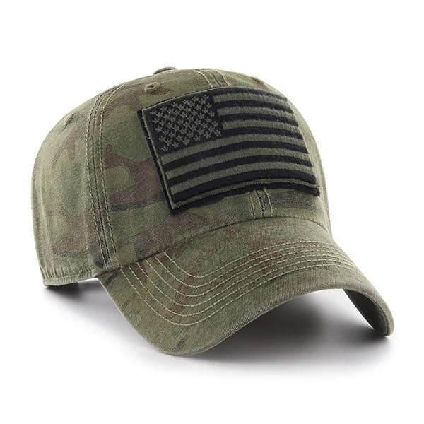 sports shoes d5885 0d1ac Operation Hat Trick Movement Camo Sandalwood 47 Brand Adjustable USA Flag  Hat - Detroit Game Gear