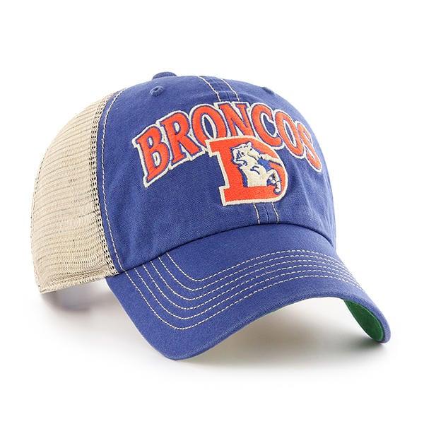 Denver Broncos 47 Brand Tuscaloosa Clean Up Vintage Blue Adjustable Hat