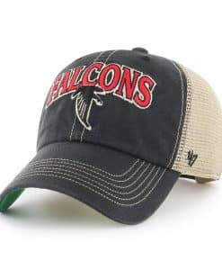 Atlanta Falcons Tuscaloosa Clean Up Vintage Black 47 Brand Adjustable Hat