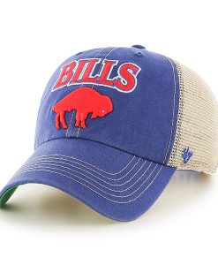 Buffalo Bills Tuscaloosa Clean Up Vintage Blue 47 Brand Adjustable Hat