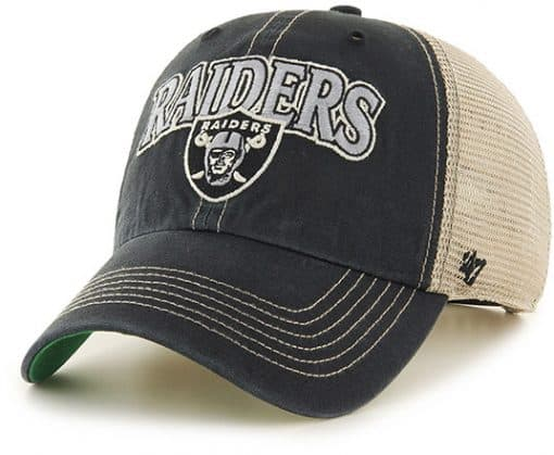 Oakland Raiders Tuscaloosa Clean Up Vintage Black 47 Brand Adjustable Hat