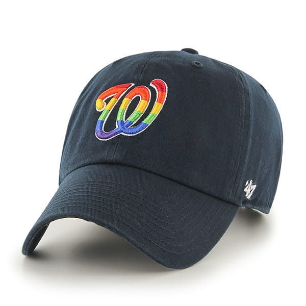 Washington Nationals Pride Clean Up Navy 47 Brand Adjustable Hat