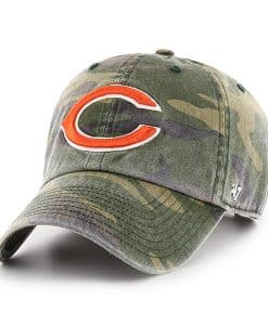 Chicago Bears 47 Brand Camo Clean Up Adjustable Hat