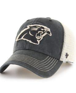 Carolina Panthers Springfield Clean Up Vintage Black 47 Brand Adjustable Hat