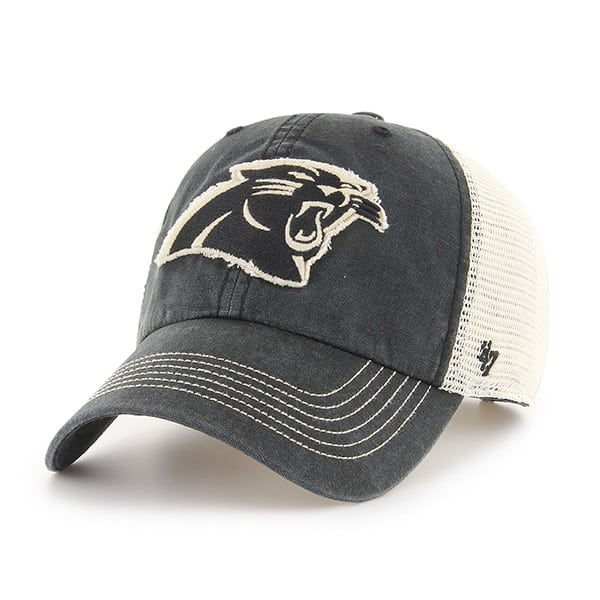 Carolina Panthers Springfield Clean Up Vintage Black 47 Brand Adjustable Hat