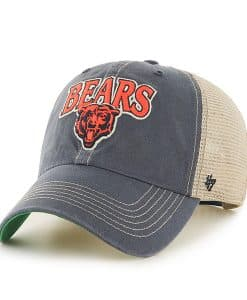 Chicago Bears Tuscaloosa Clean Up Vintage Navy 47 Brand Adjustable Hat