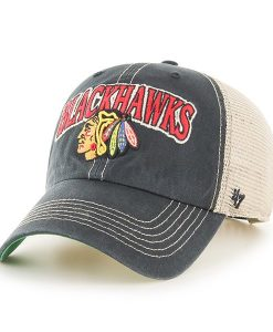 Chicago Blackhawks Tuscaloosa Clean Up Vintage Black 47 Brand Adjustable Hat