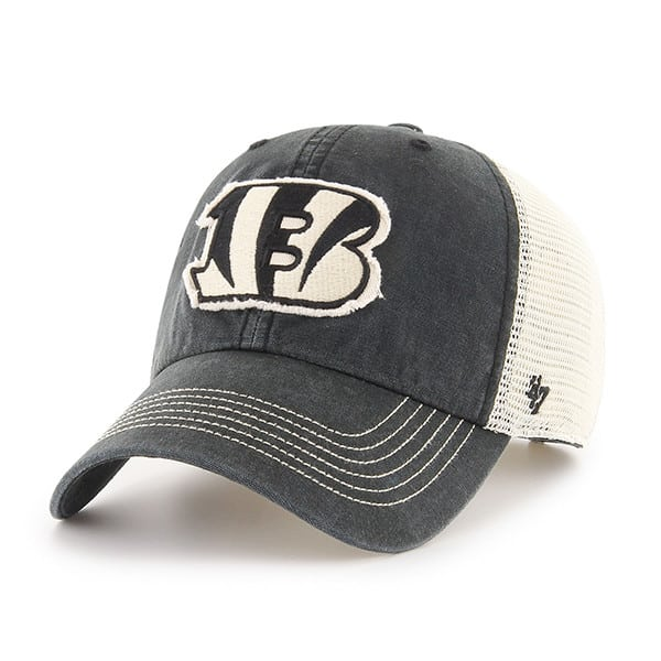 dc4b845ac77d68 Cincinnati Bengals Springfield Clean Up Vintage Black 47 Brand Adjustable  Hat - Detroit Game Gear