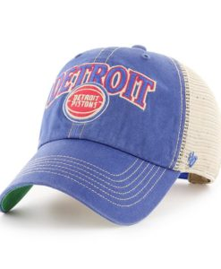 Detroit Pistons Tuscaloosa Clean Up Vintage 47 Brand Adjustable Hat