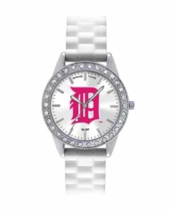 Detroit Tigers Ladies Breast Cancer Awareness Pink Frost Watch