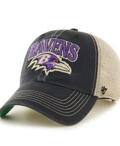 Baltimore Ravens Tuscaloosa Clean Up Vintage Black 47 Brand Adjustable Hat