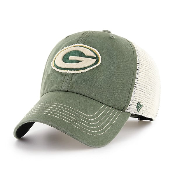 Green Bay Packers Springfield Clean Up Vintage Green 47 Brand Adjustable Hat