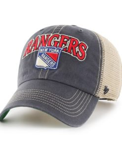 New York Rangers Tuscaloosa Clean Up Vintage Navy 47 Brand Adjustable Hat