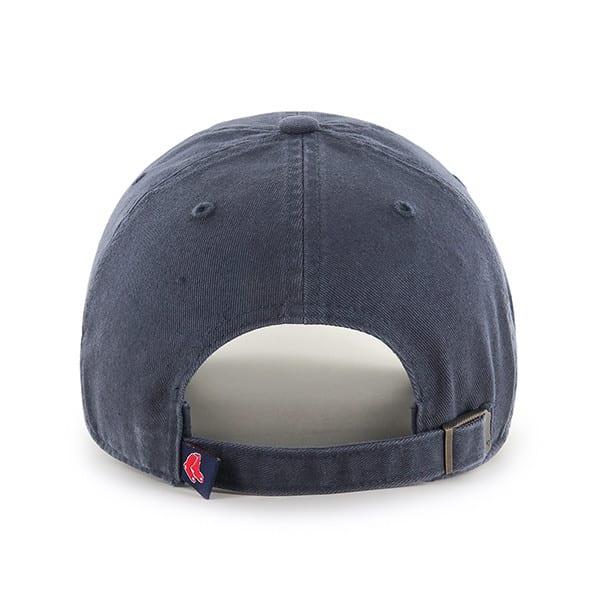 Boston Red Sox 47 Brand Pink Vintage Navy Clean Up Adjustable Hat Back