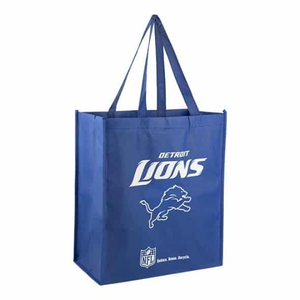 Detroit Lions Reusable Tote Grocery Bag