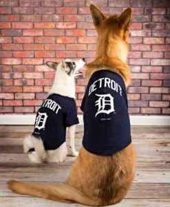 Detroit Tigers Navy Dog T-Shirt