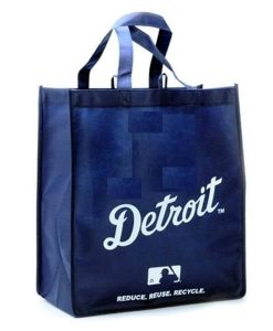 Detroit Reusable Navy Tote Grocery Bag