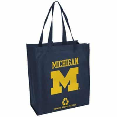 Michigan Wolverines Reusable Tote Grocery Bag