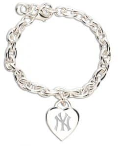 New York Yankees Heart Charm Bracelet
