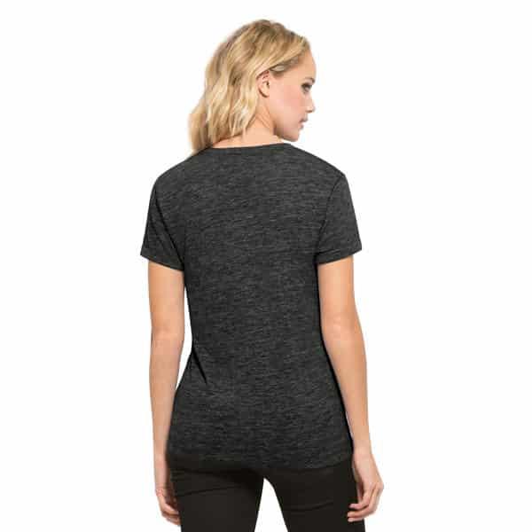 Detroit Lions 47 Brand Women's Carbon Black T-Shirt Back