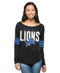 Detroit Lions 47 Brand Women's Jet Black Long Sleeve T-Shirt