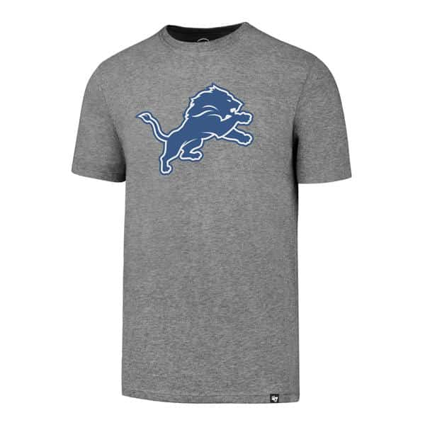Detroit Lions Men's 47 Brand Slate Grey T-Shirt