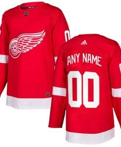 Detroit Red Wings CUSTOM Men's Adidas Authentic Home Jersey
