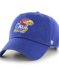 Kansas Jayhawks 47 Brand Clean Up Blue Adjustable Hat