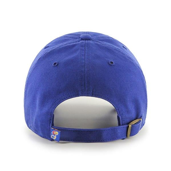Kansas Jayhawks 47 Brand Clean Up Blue Adjustable Hat Back