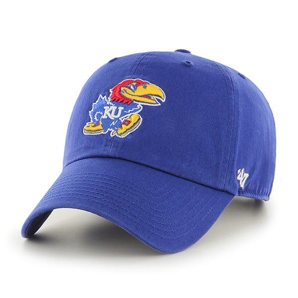 Kansas Jayhawks 47 Brand Clean Up Blue Adjustable Hat