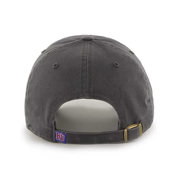 96b1407933b49 Kansas Jayhawks 47 Brand Clean Up Charcoal Adjustable Hat - Detroit ...
