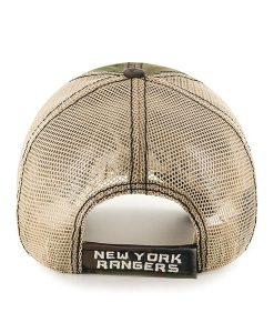 New York Rangers Burnett Clean Up Frontline Green Camo 47 Brand Adjustable Hat Back