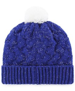 Chicago Cubs Women's 47 Brand Blue Fiona Cuff Knit Hat Back