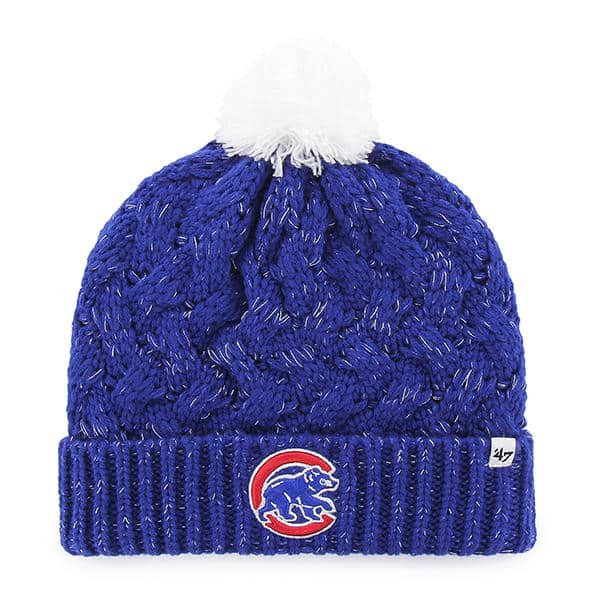 Chicago Cubs Women's 47 Brand Blue Fiona Cuff Knit Hat