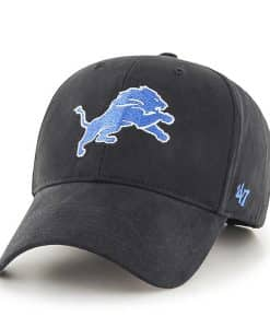 Detroit Lions 47 Brand Black MVP KIDS Adjustable Hat