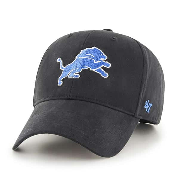 Detroit Lions 47 Brand Black MVP KIDS Adjustable Hat